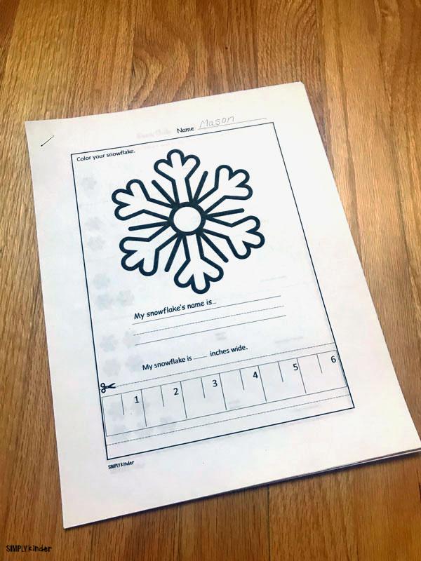 snowflake printable winter math pack