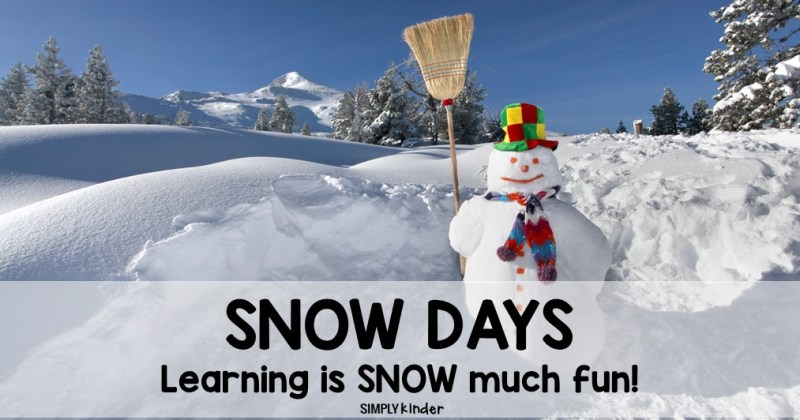 Learning can still happen on snow days. Check out these different activities to help your child learn while having fun in the snow.
