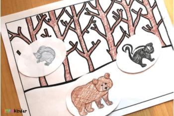 Winter animals printable pack. #freeprintable #kindergarten