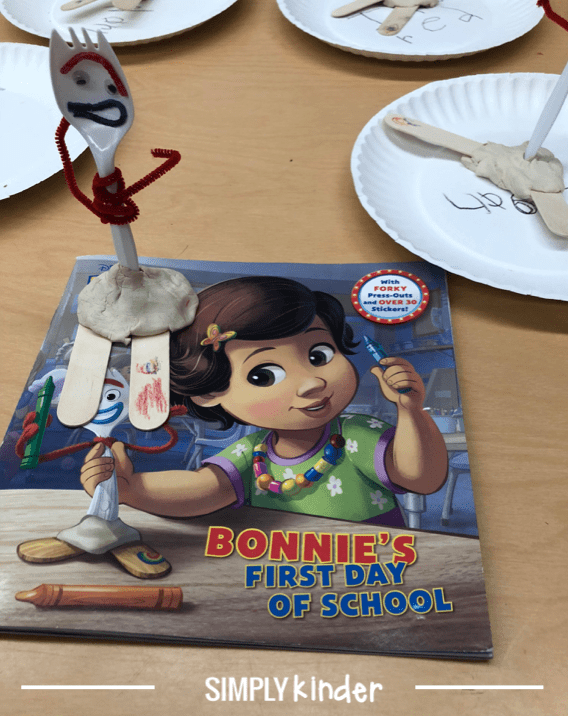 Toy Story 4 Craft - Making Forky in Kindergarten tips and tricks from teachers!