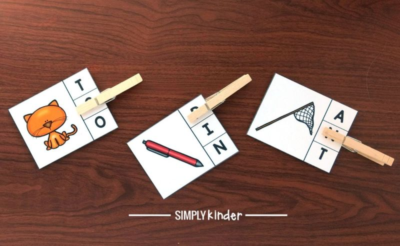beginning and ending sounds clip cards
