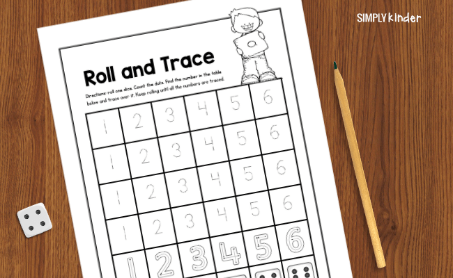 roll and trace game