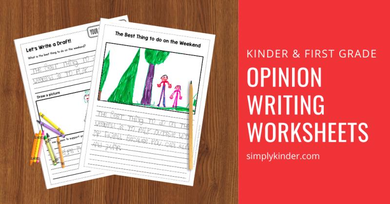 opinion writing in Kindergarten feature