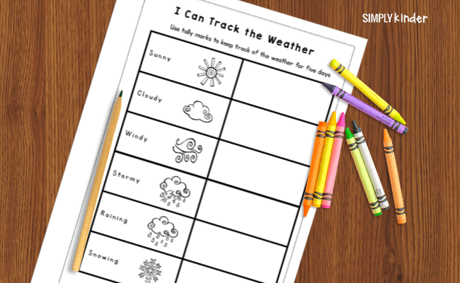 weather journal tally chart