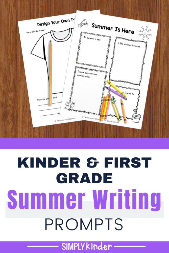 summer writing prompts pin