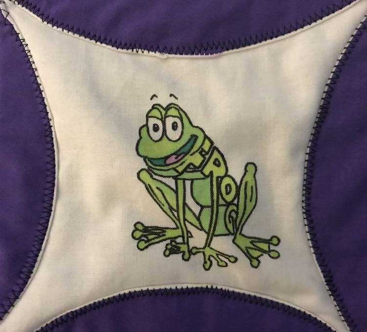 The frog in WordWorld.