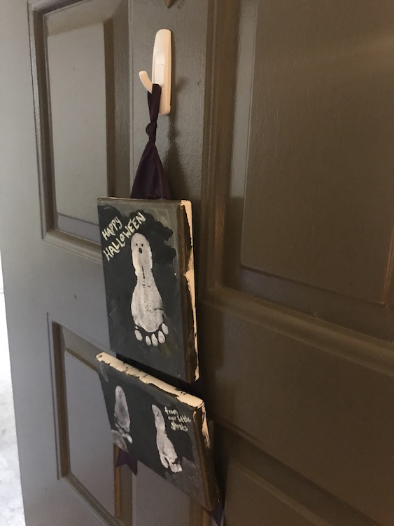 Nothing like your little ghosts bidding you welcome when you come home.