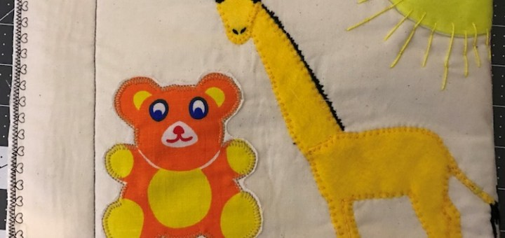 Quiet Book Page - Applique Animals