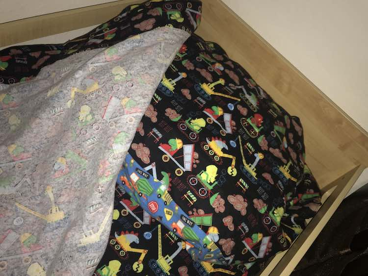 Comfy and cozy... all ready to sleep!
