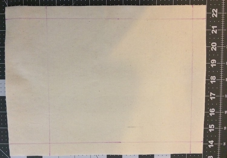 Drew the edging on a blank quiet book page so I could center the swatch.