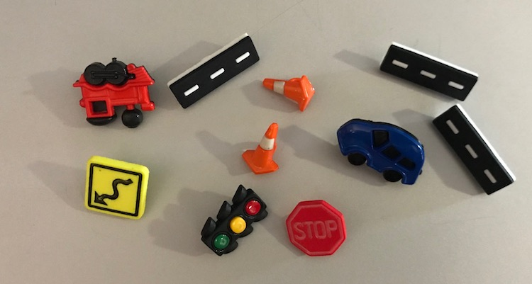 Laid out my extra vehicle related buttons for the freezie holders.