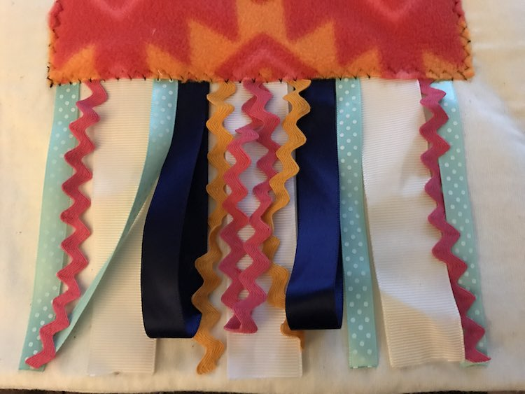 Trim any ribbons that were too long.
