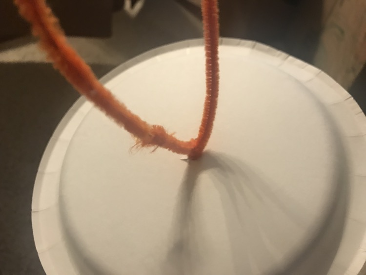 I twisted the pipe cleaners around a couple times.