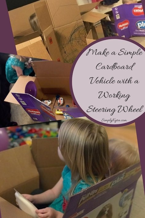 Simple Cardboard Vehicle with a Working Steering Wheel