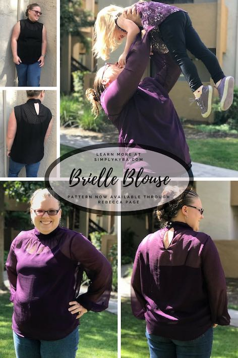 Pinterest Image for Rebecca Page's Brielle Blouse