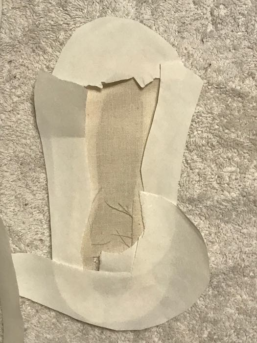 Added more paper to make sure it was covered. You don't want that on your iron.