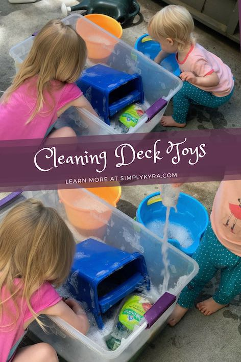 Cleaning Deck Toys