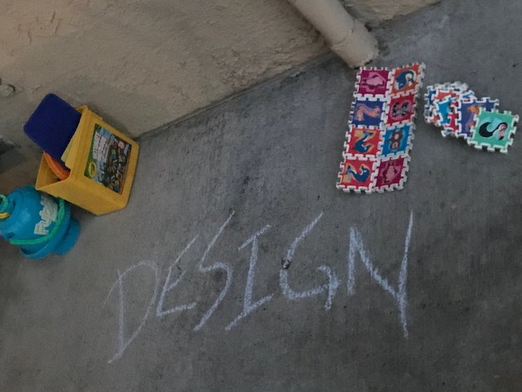 Instead of hiding the sidewalk chalk after I wrote out the stations I instead left it out along with the outside puzzle and our fubble bubbles. If someone wanted to use them they were available.