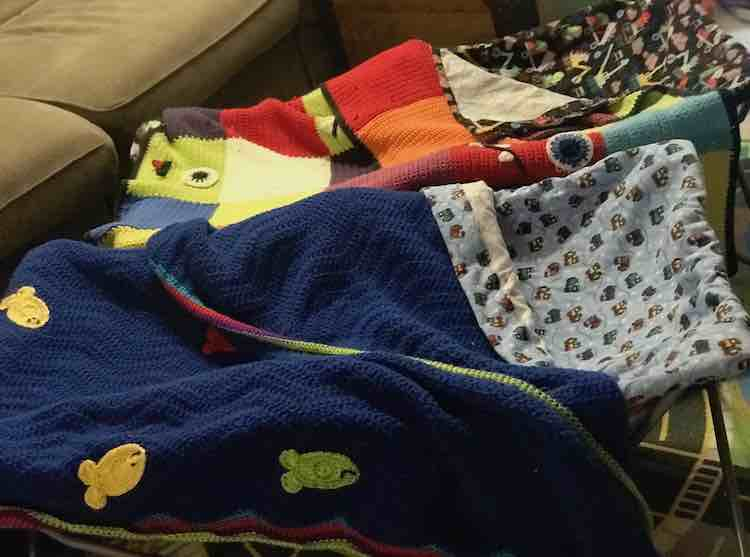 To make them feel more like home I added the blankets they use in their bedroom.