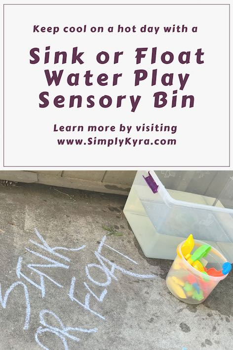 Sink or Float Water Play Sensory Bin