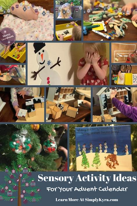 With December starting I wanted to share some simple sensory activities you can include in this years advent calendar. I also touch on last years and this years advent calendar in passing if you're interested. Great at Christmas or if you're looking for an overview on sensory activities over the past year.