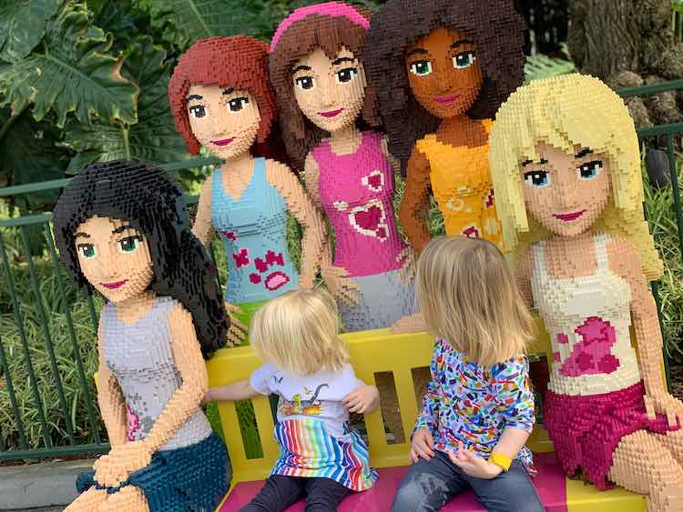 Ada, Zoey, and the LEGO® friends.