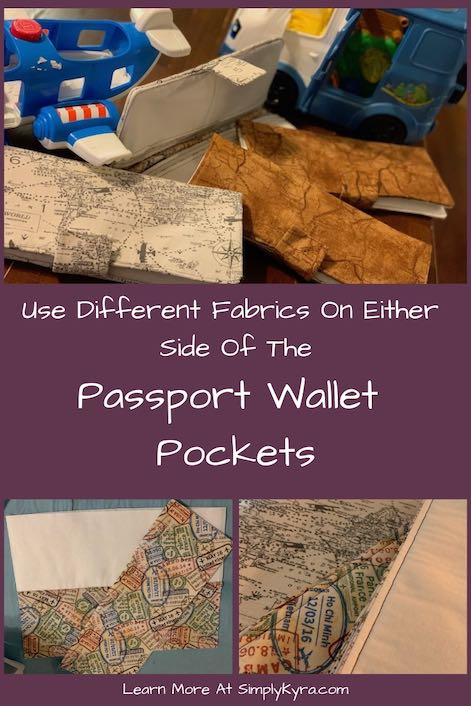 I wanted to create a passport wallet with a white customizable interior but still keep the fabric fun. I ended up taking Rebecca Page's free family passport wallet and made the pockets be different designs on the outside and inside. I love how the inside of the pockets show the fabric design yet the main interior fabric allows you to customize it later on.