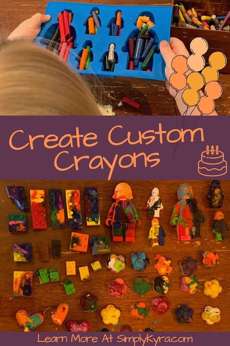 pinterest image of making crayons.