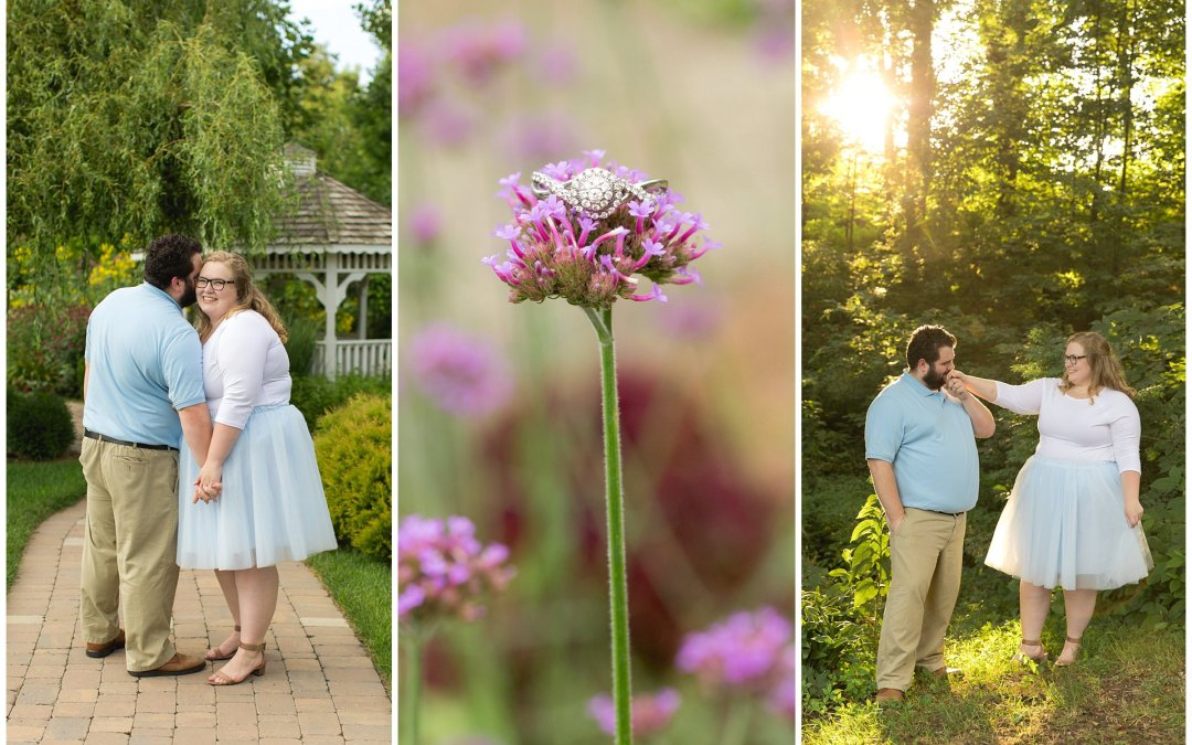Summer Engagement Session at the Barn at Springhouse Gardens in Nicholasville, KY
