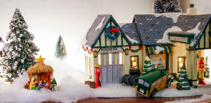 credit for the christmas village goes to my husband maurice he purchases a new house or village item from kohls each year