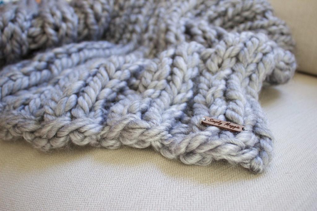 Knit Rib Scarf Knitting Pattern