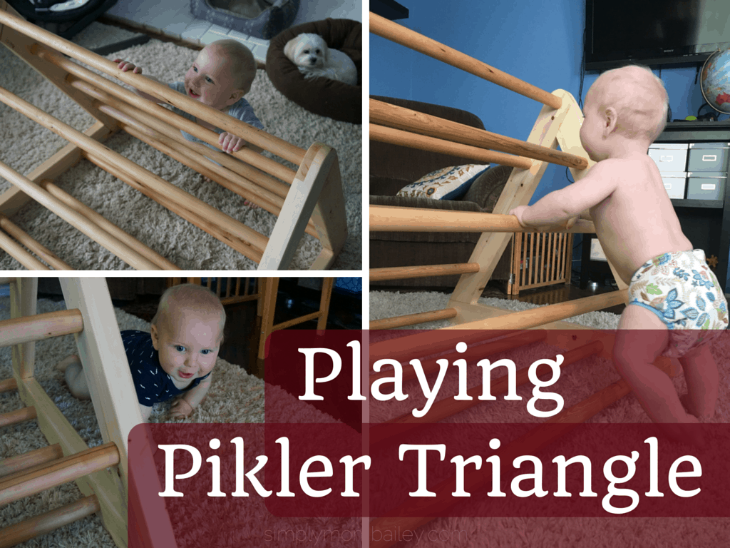 DIY Pikler Triangle - Playing