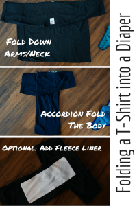 Folding a T-Shirt into a Diaper