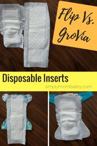 Disposable Inserts - Flip Verus GroVia Biosoakers - Cloth Diaper Options - Size Comparison