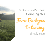 2 Under 2: Why I am Going Camping with Babies!