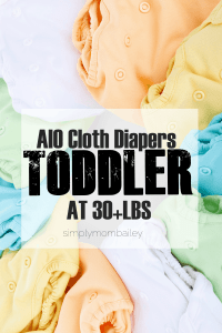 All in One Cloth Diapers at 30 pounds on a Toddler