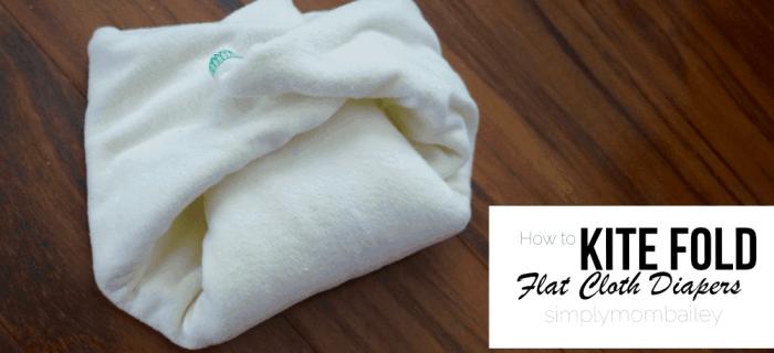 Folding Flat Cloth Diapers: Kite Fold