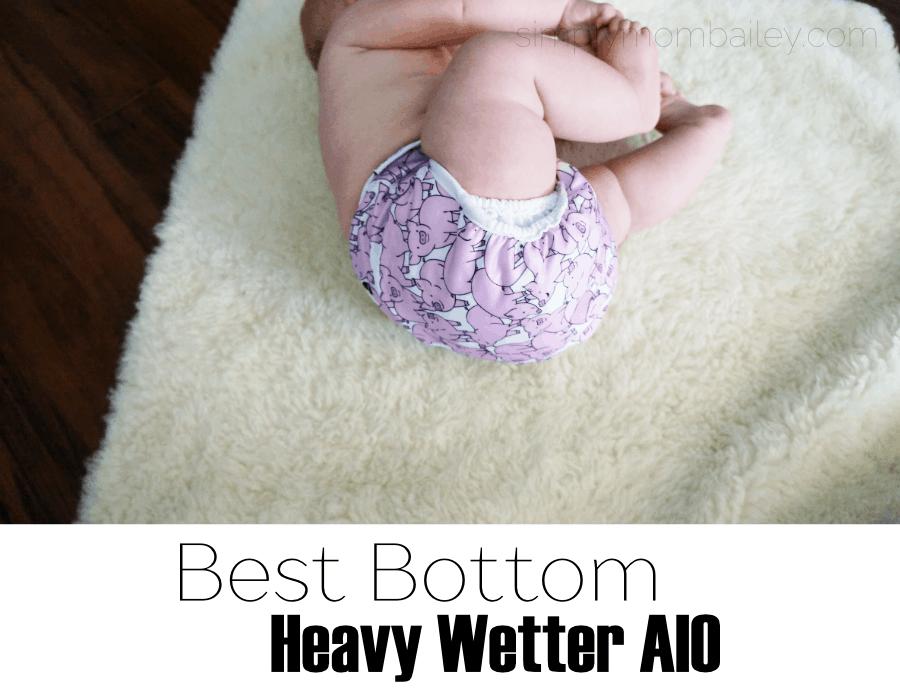 Double Gusset AIO Cloth Diaper - Best Bottom AIO Cloth Diaper - Best Bottom Heavy Wetter AIO - #clothdiapers