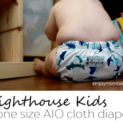 Lighthouse Kids AIO Cloth Diaper Review