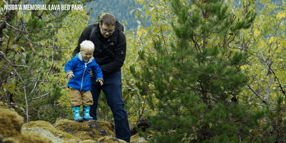 Nisga'a Memorial Lava Bed Park #ExploreBC - Things to do around Terrace, BC - Travel Canada - Hiking in British Columbia - Lava Fields - Nass Valley - BC Culture - Things to do with Kids - Family Travel
