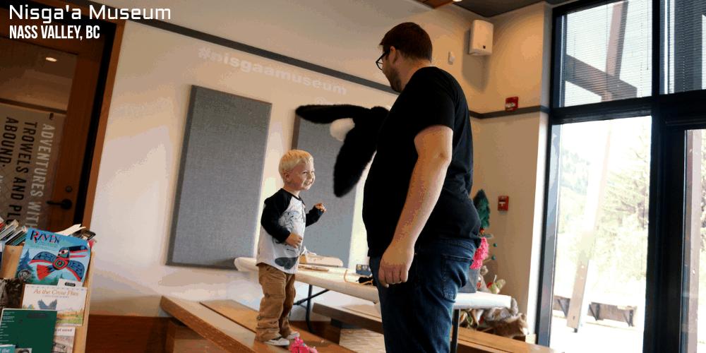 Nisga'a Museum with a Toddler - #exploreBC #travel - Toddler Travel - Nass Valley - Northwest Coast