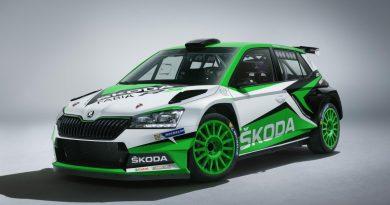 updated skoda fabia r5 rally car