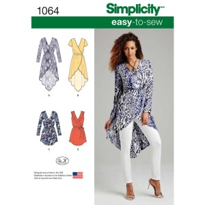 1064 simplicity tops vests pattern 1064 a envelope
