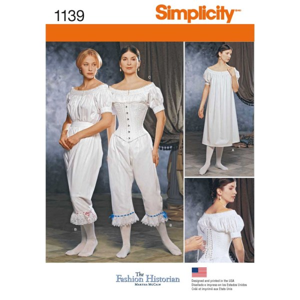 1139 simplicity costumes pattern 1139 a envelope