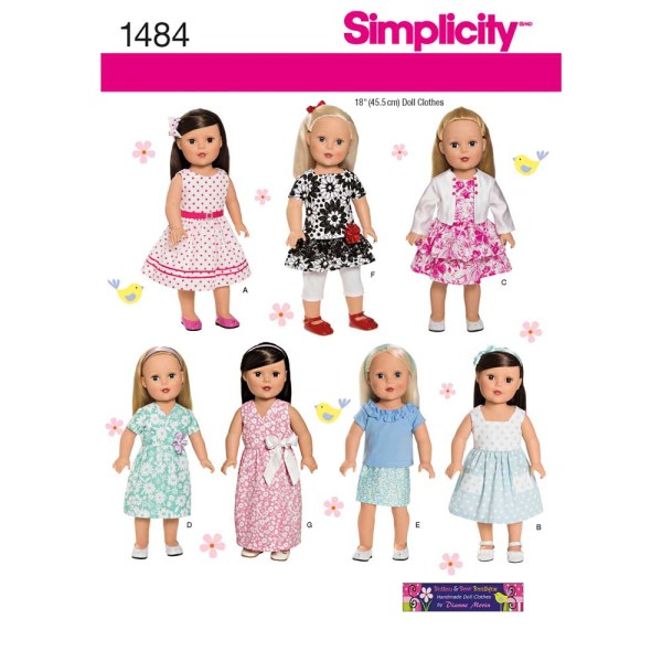 1484 simplicity doll clothing pattern 1484 a envelope