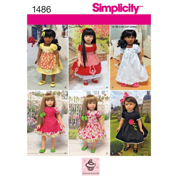 1486 simplicity doll clothing pattern 1486 a envelope