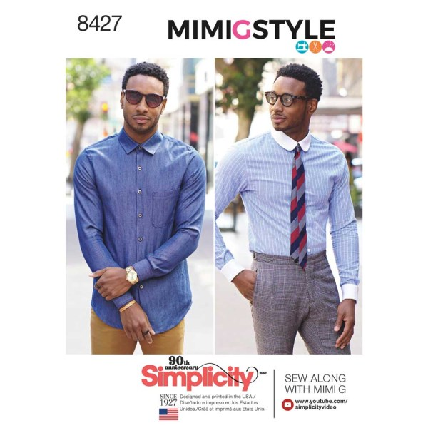 8427 simplicity fitted shirt mimigstyle mimig mens pattern 8427 a envelope