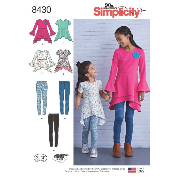 8430 simplicity children separates pattern 8430 a envelope