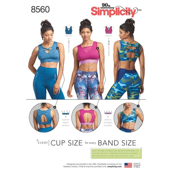 8560 simplicity sports bra pattern 8560 a envelope