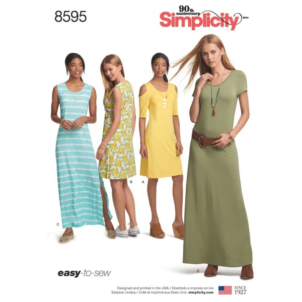 8595 simplicity knit dress pattern 8595 a envelope